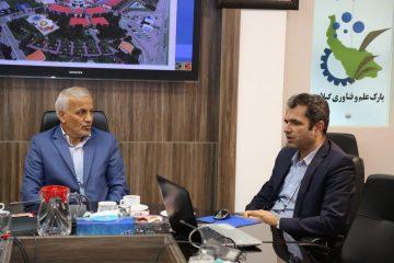 حضور و بازدید دکتر حسنی نماینده مردم شریف رشت در مجلس شورای اسلامی از پارک علم و فناوری گیلان