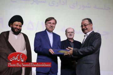 """گزارش تصویری مراسم تکریم """"محمد رنجبر"""" و معارفه """"سیروس شفقی"""" فرماندار لنگرود"""