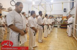حضور مزدا صوفی، رئیس هیات کاراته شهرستان رشت در میان آزادکاران