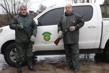 کشف و ضبط دو قبضه سلاح شکاری