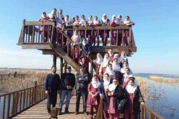 کارگاه آموزشی تالاب برای دانش آموزان لنگرودی برگزار شد