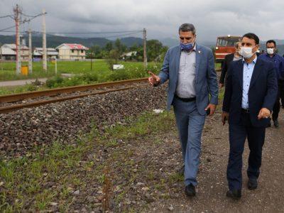 بازدید فرماندار شهرستان رشت از خطوط و ایستگاه راه آهن رشت – قزوین