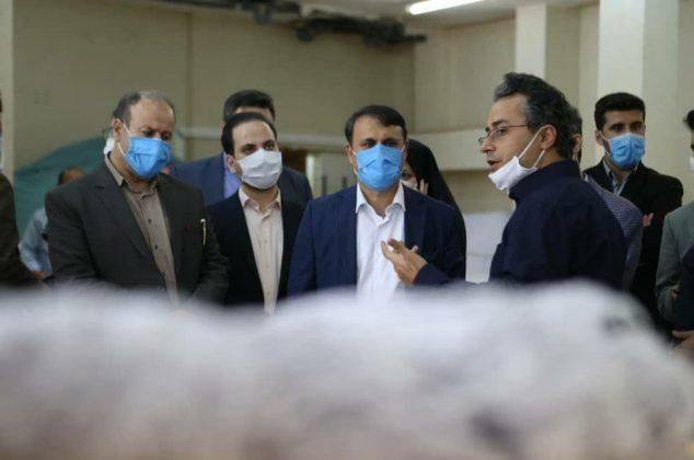 گزارش تصویری از بازدید فرماندار رشت از کارخانه پیشروتاب