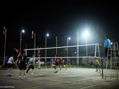 مسابقات والیبال خیابانی روستای بجاربنه