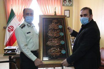 دیدار مدیرعامل کود آلی گیلان با فرمانده انتظامی شهرستان رشت به مناسبت هفته نیرو انتظامی