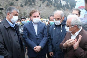 بازدید وزیر راه و شهرسازی و استاندار گیلان از روند تکمیل آزادراه رشت قزوین