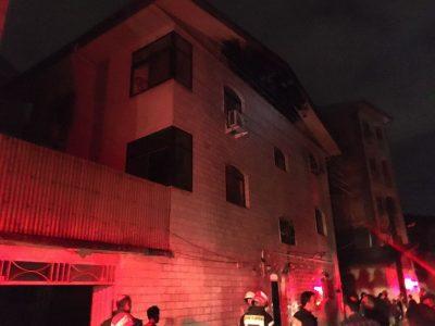 گزارش تصویری/تلاش ۳۴ آتش نشان در پی آتشسوزی منزل مسکونی در چله خانه رشت