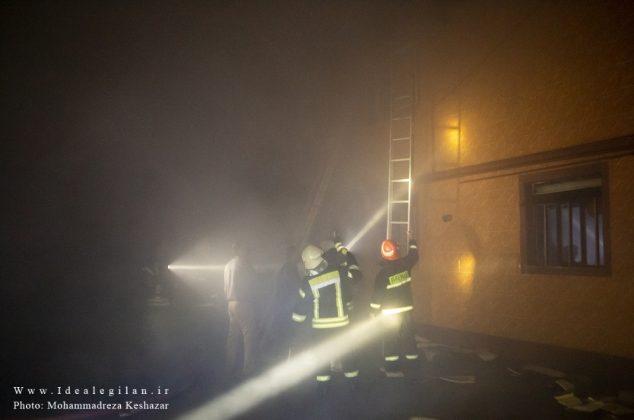 گزارش تصویری/اطفا آتش سوزی ۶ باب منزل مسکونی در بلوار امام رضا(ع) رشت