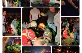 عملیات نجات در پی محبوس شدن راننده خودروی سواری