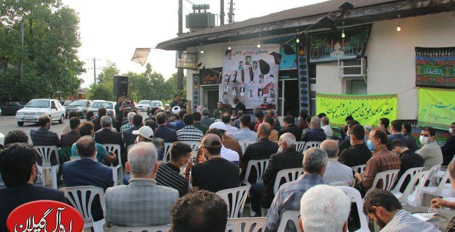 گزارش تصویری/حضور پرشمار چهره های سیاسی در یادواره شهدای لاکان-رشت