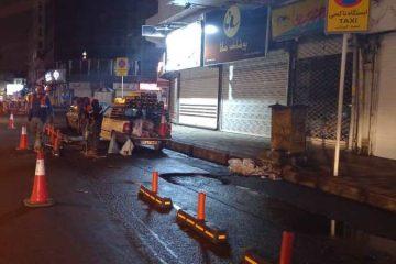 گزارش تصویری نصب و بهسازی لاین ایستگاه های تاکسی در سطح شهر