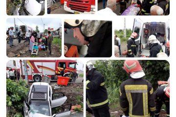 واژگونی خودرو در کانال آب/ بانوی جوان راهی بیمارستان شد