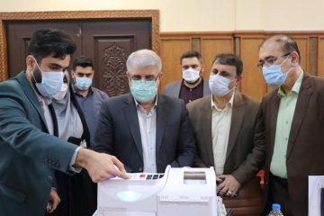 بازدید معاون سیاسی و امنیتی استاندار گیلان از فرآیند برگزاری رای گیری الکترونیک