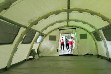 راه اندازی بیمارستان سریع الستقرار RDH جمعیت هلال احمر گیلان