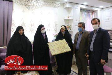 گزارش تصویری/عیادت فاطمه شیرزاد و رئیس بسیج رسانه گیلان از بانوی آمر به معروفی که در بوستان کشاورز رشت مورد ضرب و شتم قرار گرفت