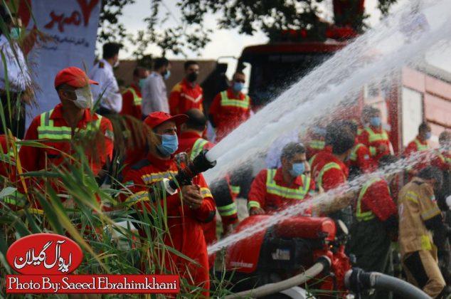 گزارش تصویری مانور آبگیری و آبرسانی از منابع روباز در آستانه روز آتش نشان-رشت