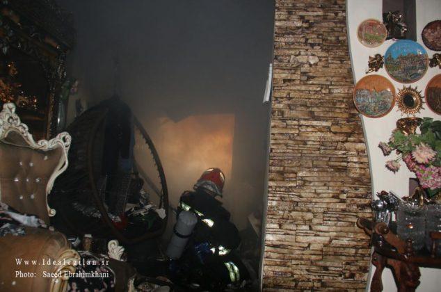 گزارش تصویری/ایستاده در دود،اطفا حریق سنگین رشت-در آستانه روز آتش نشان