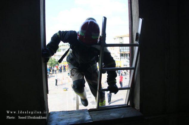 گزارش تصویری کامل/نخستین دوره مسابقات عملیاتی ورزشی استان گیلان /آتش نشانی رشت